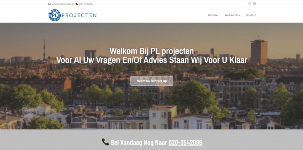 pl projecten homepage