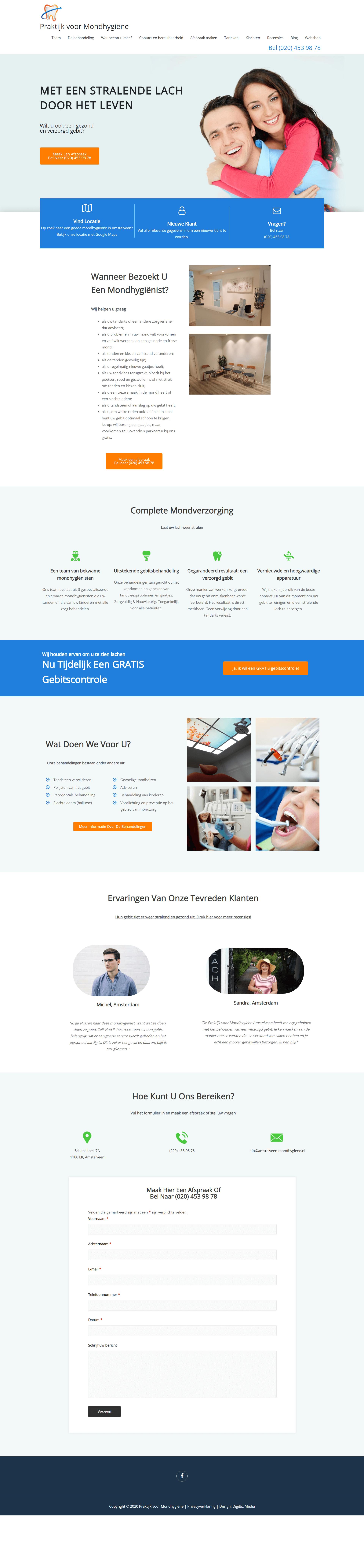 Praktijk voor mondhygiëne full website